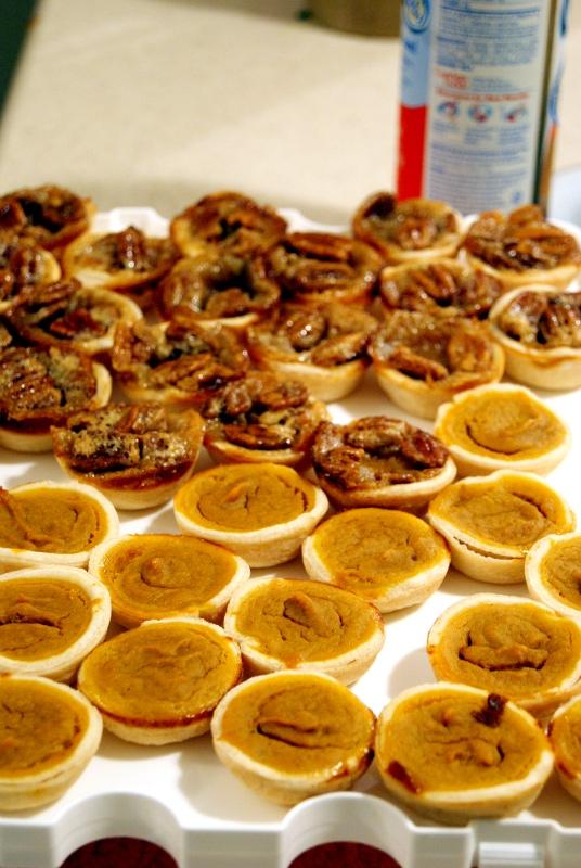 Pumpkin and Pecan Bite Size Pies